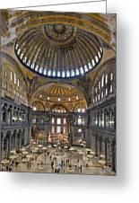 Hagia Sophia Museum In Istanbul Turkey Greeting Card