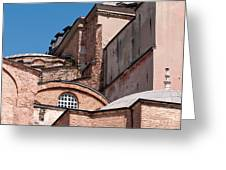 Hagia Sophia Walls 01 Greeting Card