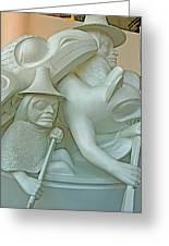 Haida Sculpture Closeup In Canadian Museum Of Civilization In Gatineau-quebec-canada Greeting Card