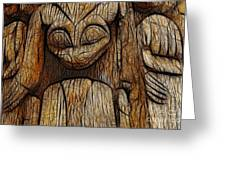 Haida Totem Greeting Card by Bob Christopher