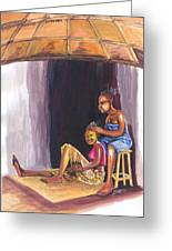 Hair Dresser In Rwanda Greeting Card