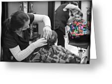 Hair Dresser - The First Cut Greeting Card