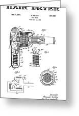 Hair Dryer 3 Patent Art 1931 Greeting Card