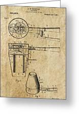 Hair Dryer Patent Art 1911 Greeting Card