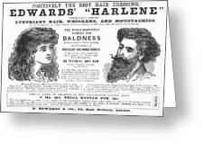 Hair Restorative, 1891 Greeting Card