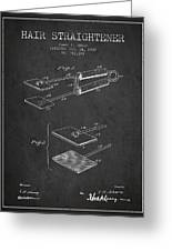 Hair Straightener Patent From 1909 - Charcoal Greeting Card