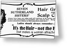 Hair Treatment Ad, 1894 Greeting Card