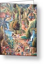 Haitian Village Greeting Card