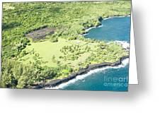 Aerial View Hale O Pi'ilani Heiau Honomaele Hana Maui Hawaii  Greeting Card