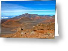Haleakala Lava Cones Greeting Card