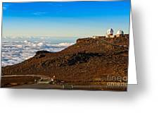 Haleakala Observatory In Maui. Greeting Card