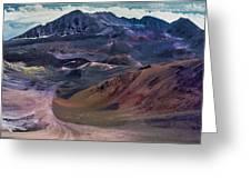 Haleakala Summit Crater Greeting Card