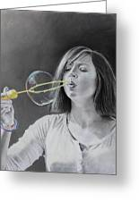 Bubble Girl Greeting Card