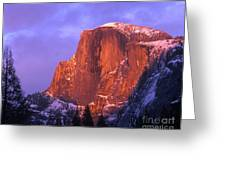 Half Dome Alpen Glow Greeting Card