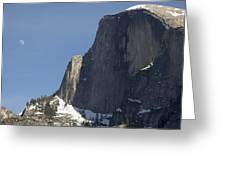 Half Dome And Moon Greeting Card