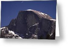 Half Dome And Star Trails Greeting Card