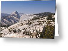 Half Dome And The High Sierra Greeting Card