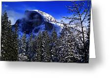 Half Dome Clearing Greeting Card