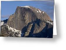 Half Dome Close Up In Winter Greeting Card