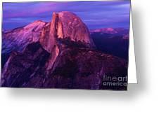Half Dome Glow Greeting Card