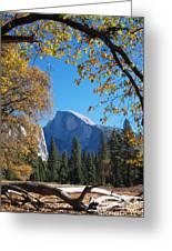 Half Dome In Yosemite Greeting Card
