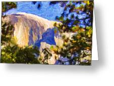Half Dome Opus I Greeting Card