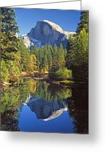 2m6709-half Dome Reflect - V Greeting Card