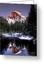 Half Dome Reflection Yosemite National Park California Greeting Card