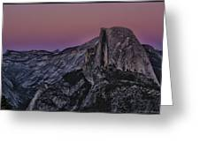 Half Dome Twilight Greeting Card