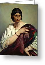 Half-length Portrait Of A Roman Woman Greeting Card
