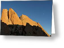 Half Moon At Garden Of The Gods Greeting Card