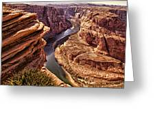 Half Of Horshoe Bend - Page Az Greeting Card