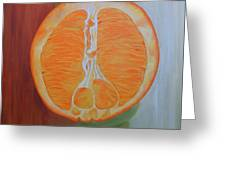 Half Orange Greeting Card