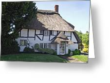 Half-timbered Thatched Cottage Greeting Card
