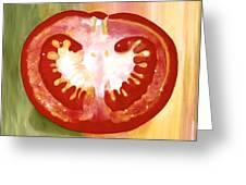 Half-tomato Greeting Card