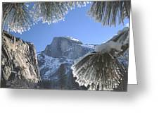 2m6757-halfdome In Winter Greeting Card
