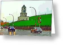 Halifax Historic Town Clock Graphic Greeting Card