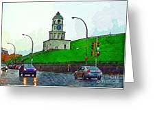 Halifax Historic Town Clock Greeting Card
