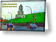 Halifax Historic Town Clock Poster Greeting Card
