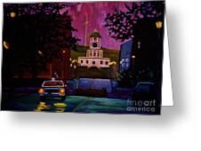 Halifax Night Patrol And Town Clock Greeting Card