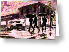 Halifax Nova Scotia On In The Rain Greeting Card