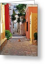 Halki Street Greeting Card