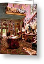 Hall And Staircase Of A Country House Greeting Card