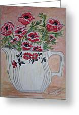 Hall China Red Poppy And Poppies Greeting Card