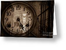 Hall Of Time Greeting Card by Pam Vick