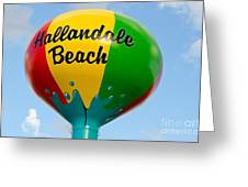Hallendale Beach Water Tower Greeting Card