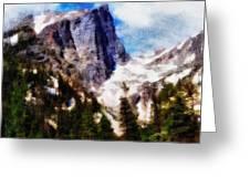 Hallett Peak In Spring Greeting Card