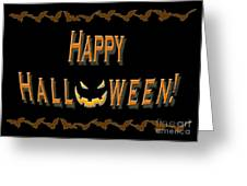 Halloween Bat Border Greeting Card