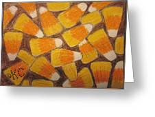 Halloween Candy Corn Greeting Card