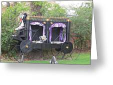 Halloween Carriage Greeting Card